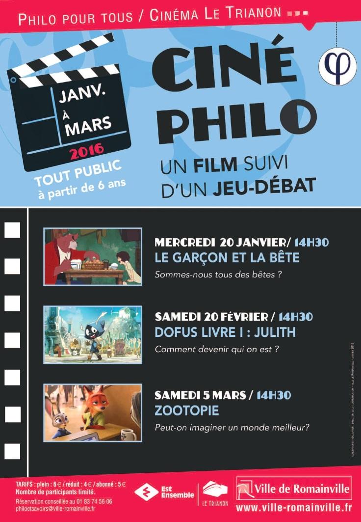 ciné-philo janvier-mars 2016