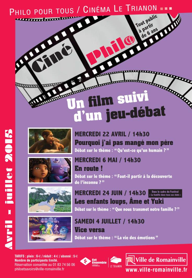 Programme Ciné-Philo Avril - Juin 2015 page 1