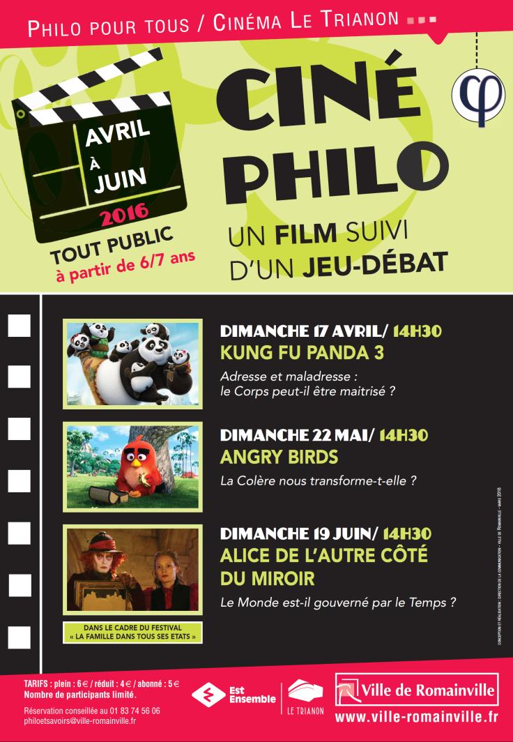 Programme Ciné-Philo Avril - Juin 2016 page 1