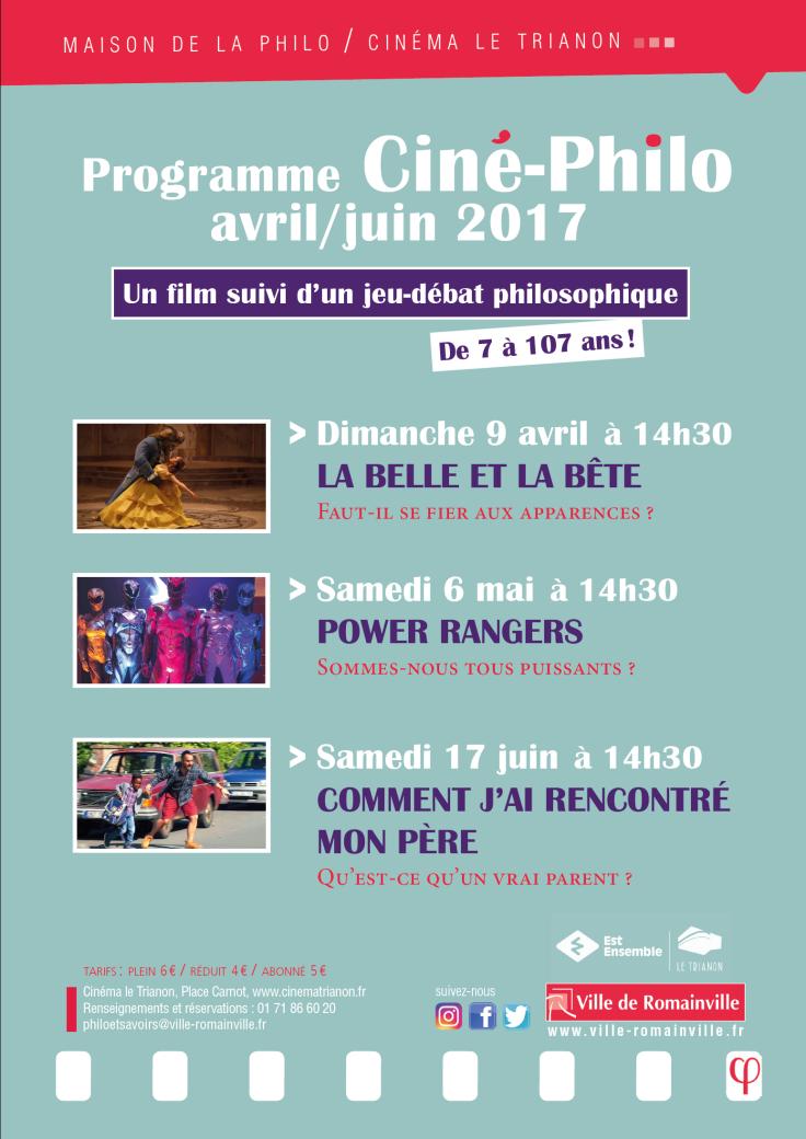 Programme Ciné-Philo Avril - Juin 2017 page 1