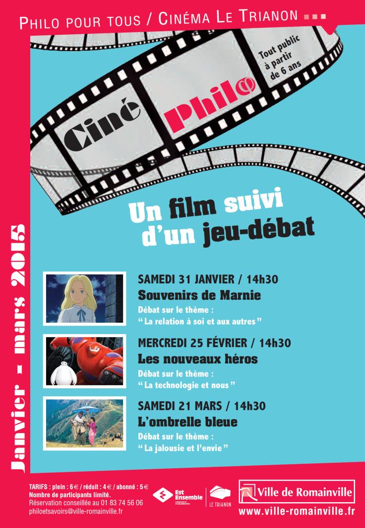 Programme Ciné-Philo Janvier - Mars 2015 page 1