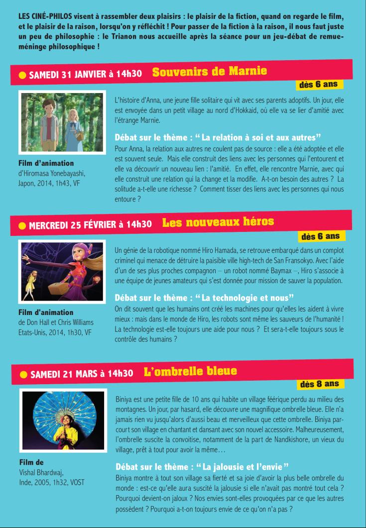 Programme Ciné-Philo Janvier - Mars 2015 page 2