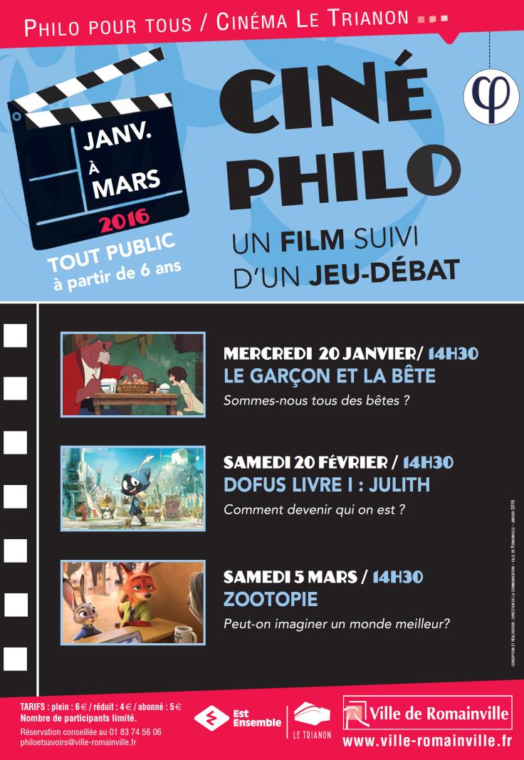 Programme Ciné-Philo Janvier - Mars 2016 page 1