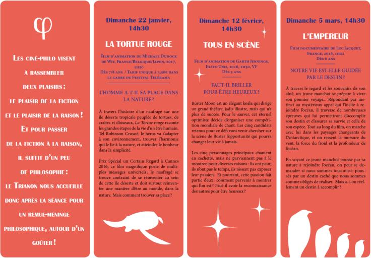 Programme Ciné-Philo Janvier - Mars 2017 page 2