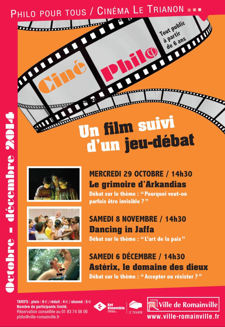 Programme Ciné-Philo Octobre - Décembre 2014 page 1