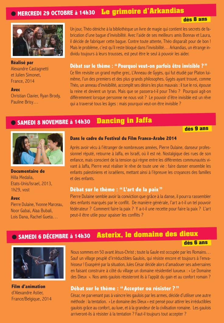Programme Ciné-Philo Octobre - Décembre 2014 page 2