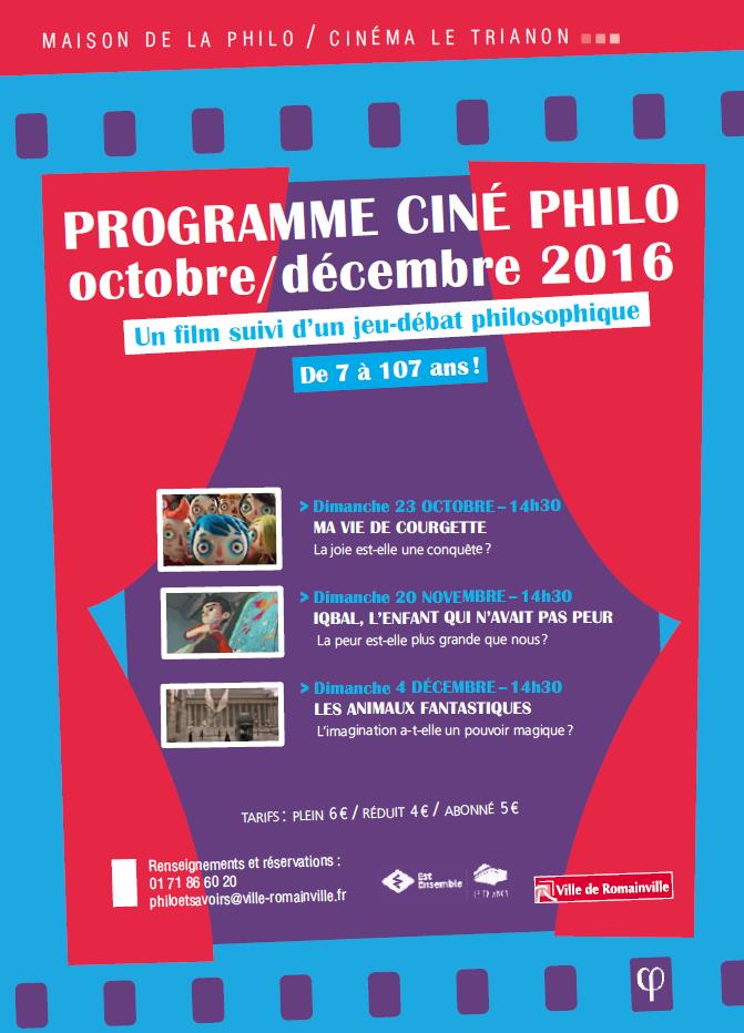 Programme Ciné-Philo Octobre - Décembre 2016 page 1