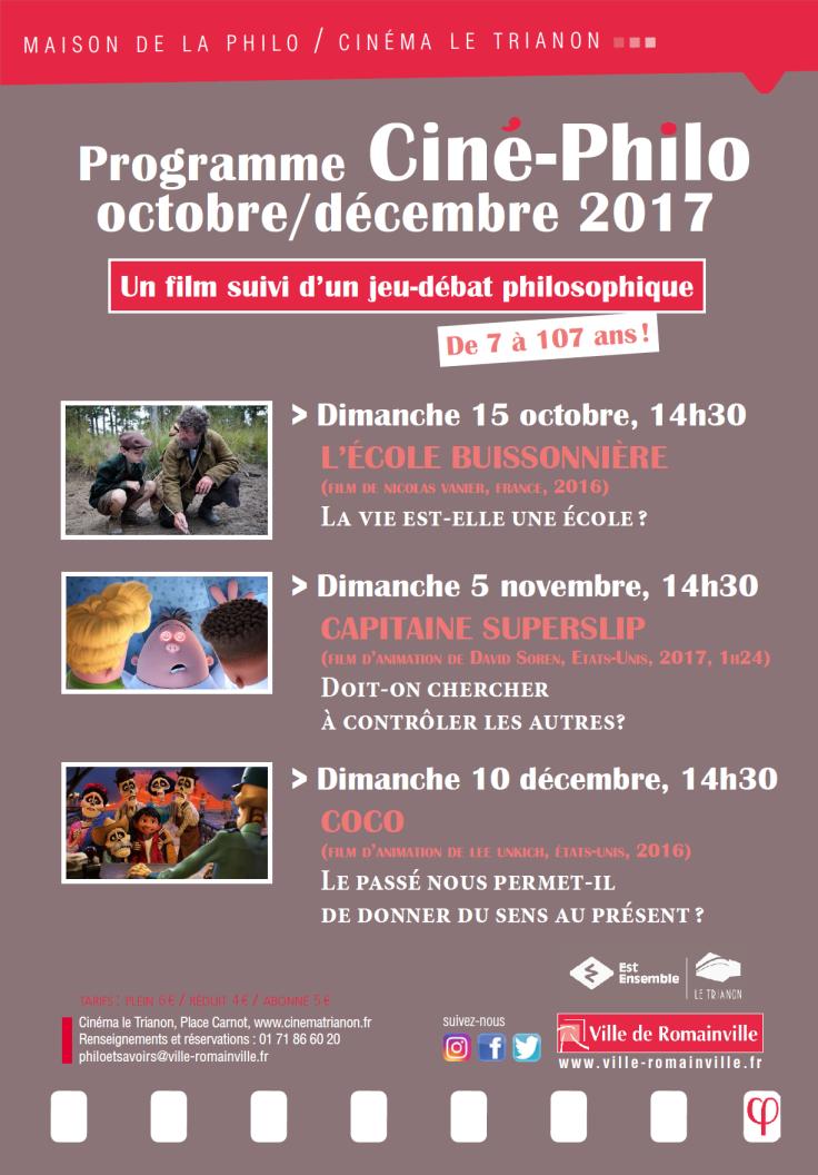 Programme Ciné-Philo Octobre - Décembre 2017 page 1