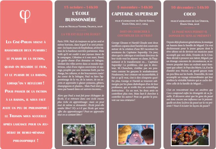 Programme Ciné-Philo Octobre - Décembre 2017 page 2