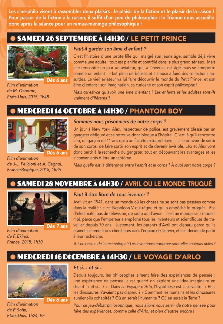 Programme Ciné-Philo Septembre - Décembre 2015 page 2