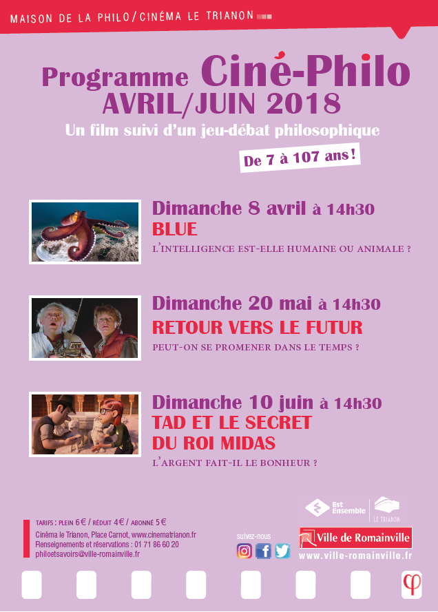 Programme Ciné-Philo Avril - Juin 2018 page 1