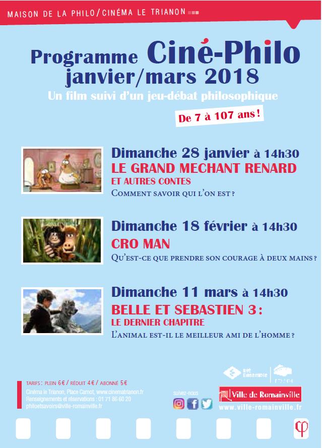 Programme Ciné-Philo Janvier - Mars 2018 page 1