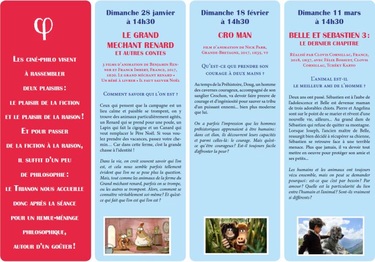 Programme Ciné-Philo Janvier - Mars 2018 page 2