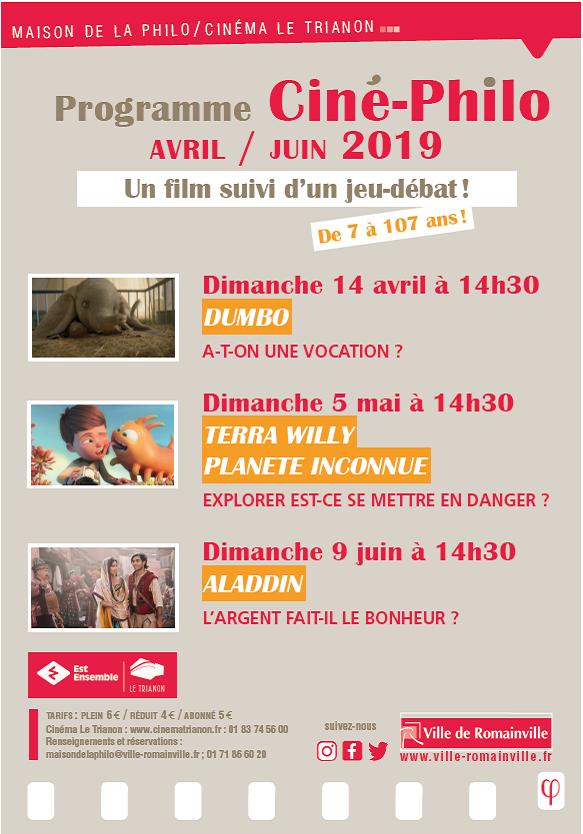 ProgCiné-philo AvrilJuin 2019