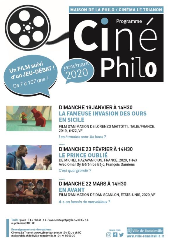 Affiche Ciné-Philo Jan-Mars 2020
